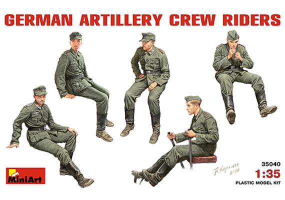 German Artillery Crew Riders