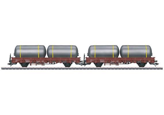 DB Rungenwagen Set mit Braureitanks