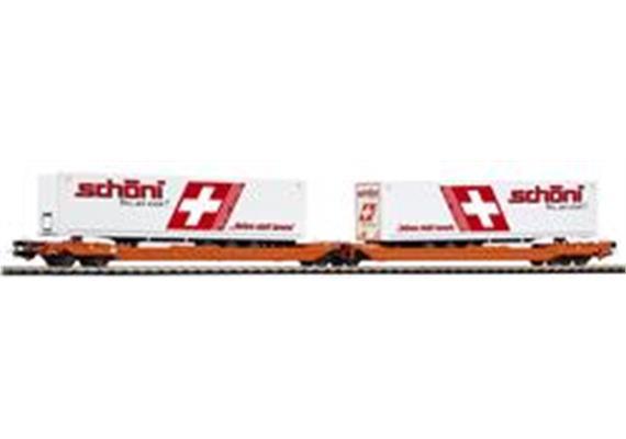 Wascosa Schöni Doppelgelenk Containerwagen