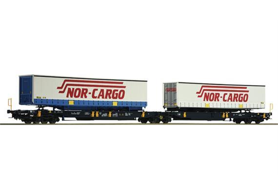 Doppelgelenktaschenwagen mit Nor-Cargo Auflegern