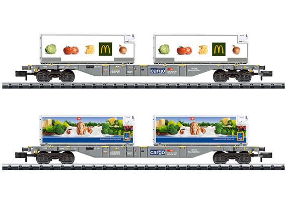 SBB Cargo Containerwagen Set