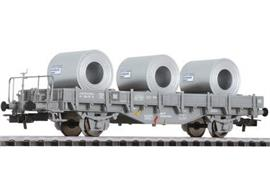 SBB Rungenwagen mit Stahlrolle