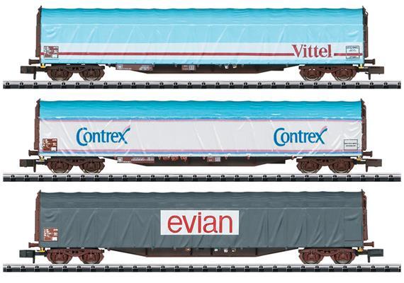 SNCF Schiebeplanenwagen Set